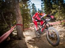 Ashton Smith (Trail Head Racing) charges the Kamikaze Bike Games Enduro course.