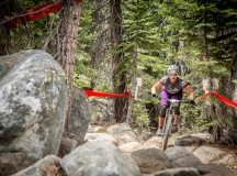Loose dirt and chunky rocks set the tone for the race. Amy Morrison (Mike's Bikes) crushed the stage 3 tech gnar to a 2nd place pro womens win. Photo by Called To Creation.