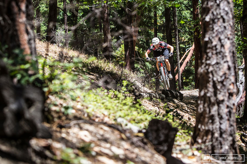 Racing Ashland's wooded trails. Photo by Mike Albright.