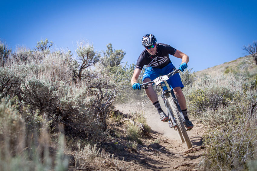 Nick Ducharme takes on the loose, tight Battle Born Enduro course under a blistering sun. Photo by Called to Creation.