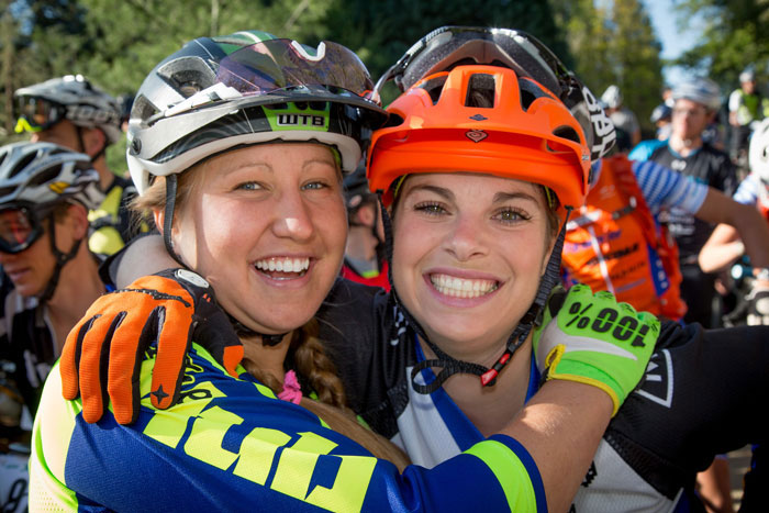 Amy Morrison and her best pal Brianne Spierscht the Battle Born Enduro in 2015. Photo: Called To Creation