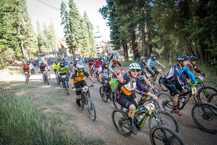 Amy Morrison is all stoke at the Northstar Enduro in 2015. Photo: Called To Creation