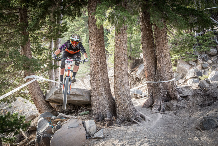Ryan Gardner (Kona) hopes to use his EWS experience to repeat in Mammoth. Photo: Called To Creation