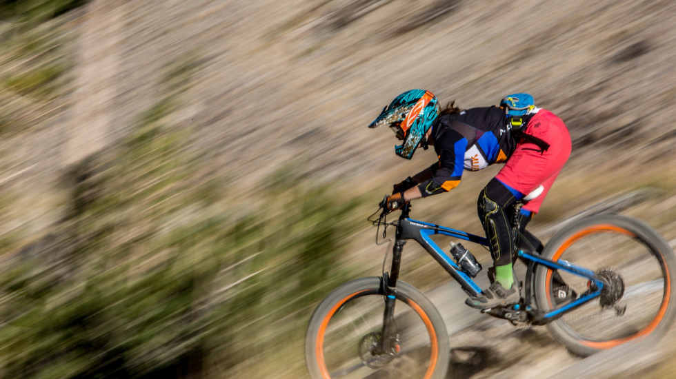Brianne Spiersch made quick work of the 2015 Mammoth Enduro on her Marin Attack Trail. Photo: Called to Creation