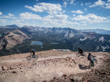 Riders took on the high elevation and rugged terrain of Mammoth Mountain with style and grace, during the 2015 Mammoth Enduro. Photo: Called to Creation