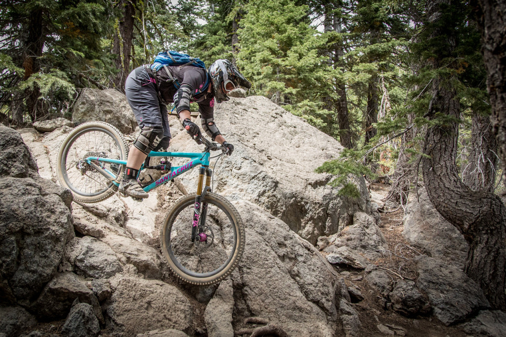 Megan Gemelos isn't new to rocky terrain and showed her expertise during the 2015 Northstar Enduro. Photo: Called to Creation