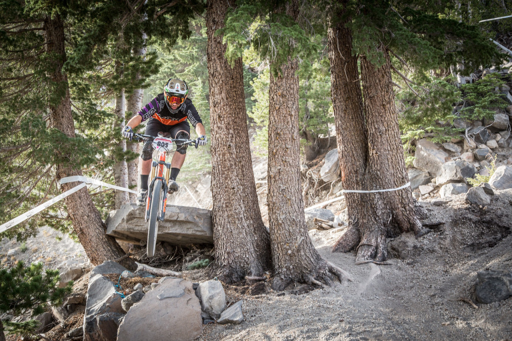 Ryan Gardner, a rider for Kona, tore up the course at the 2015 Mammoth Enduro. Photo: Called to Creation