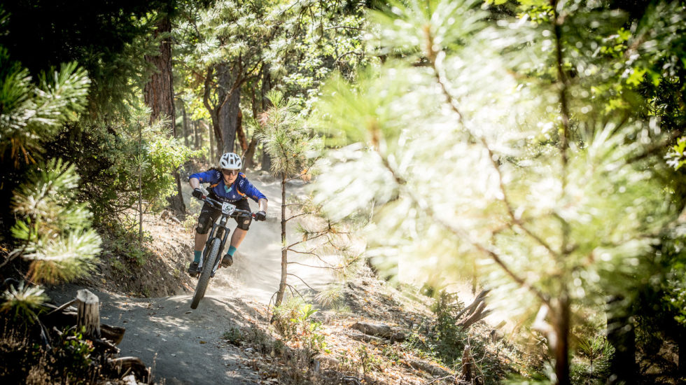 Amy Morrison pinned on the fast, loose Ashland Mountain Challenge course. Amy went on to take 1st place Pro Women for 2016. Photo: Called to Creation.