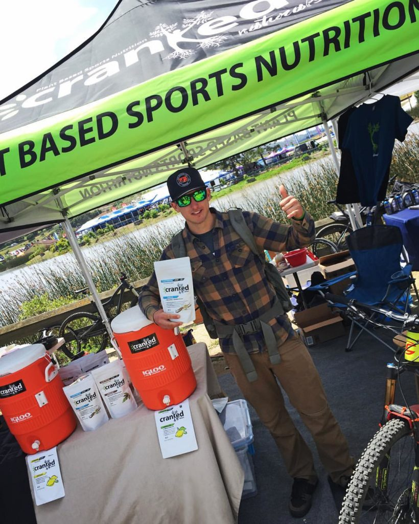 Cranked Naturals pro rider Marco Osborne stoked at this year's Sea Otter Classic.